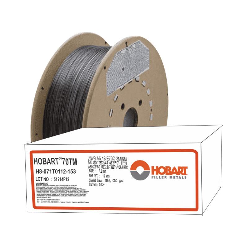soldadura para Flux Cored Hobart 70-TM