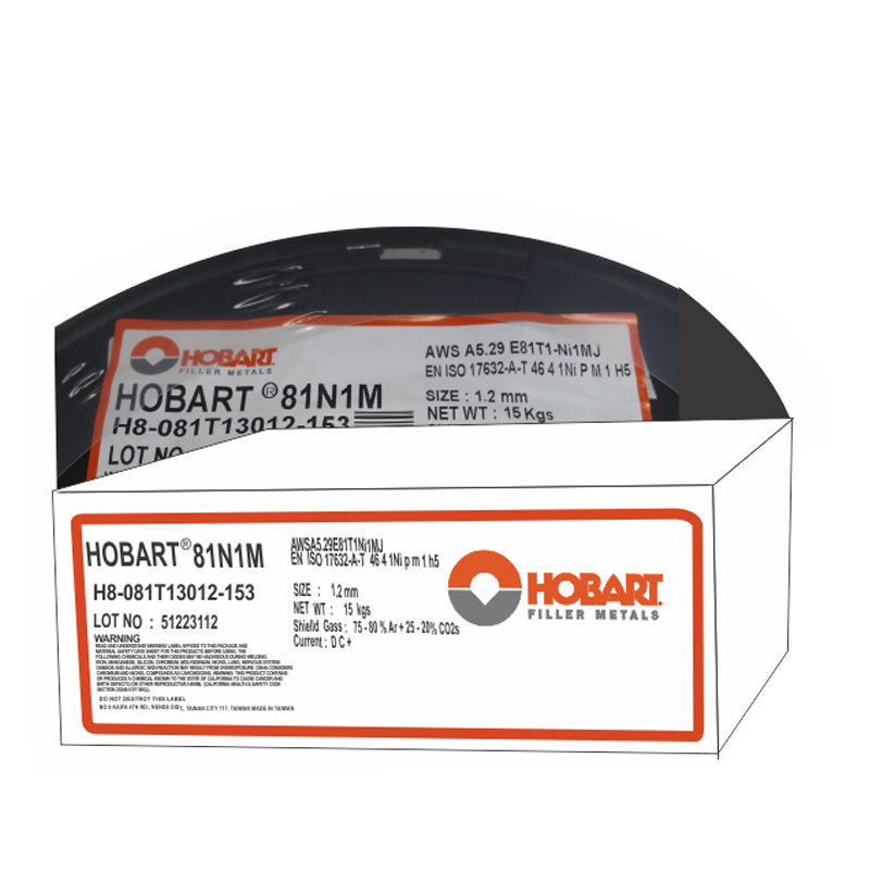 soldadura para Flux Cored Hobart E81T-1NI1